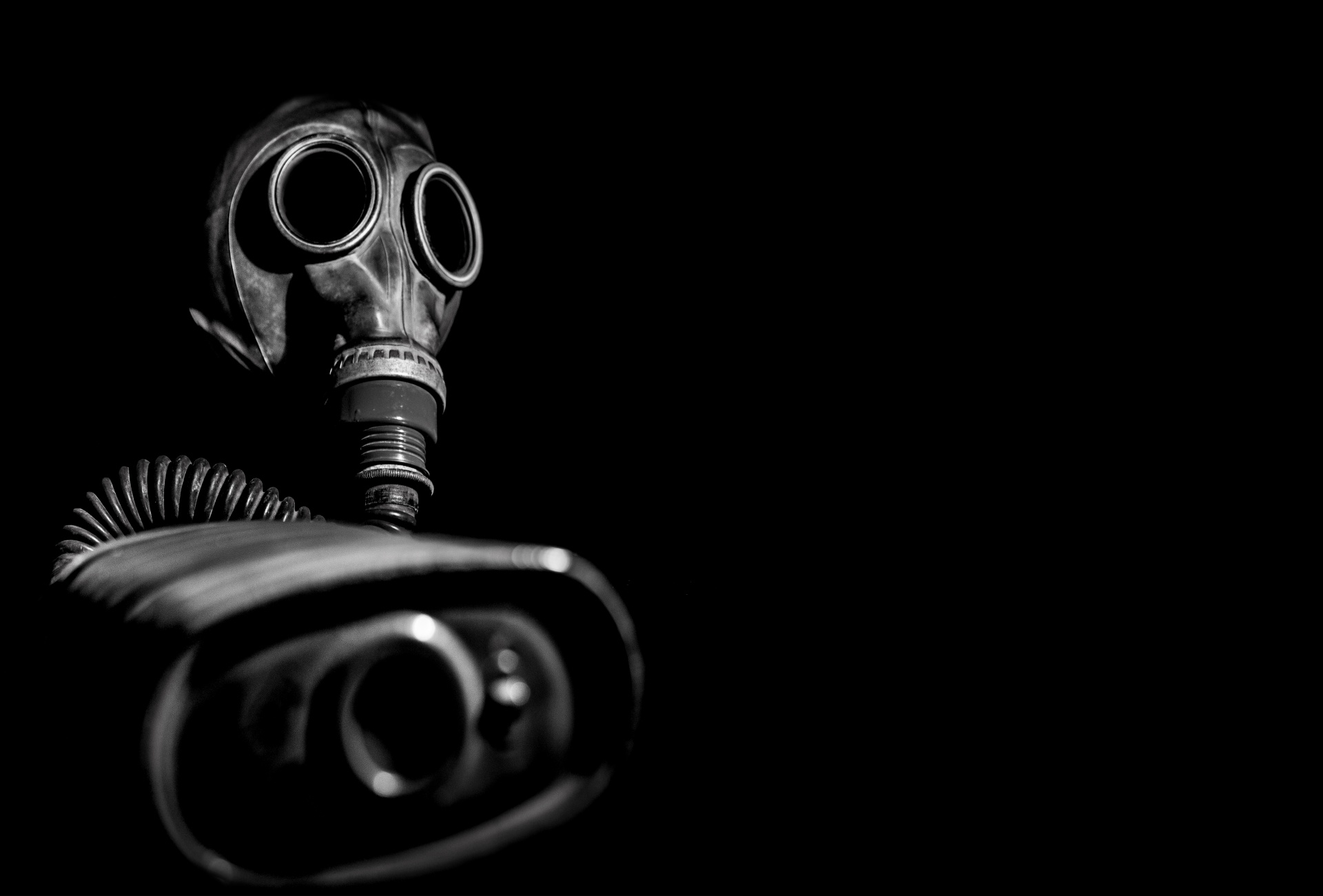 Gas Mask In Shadow