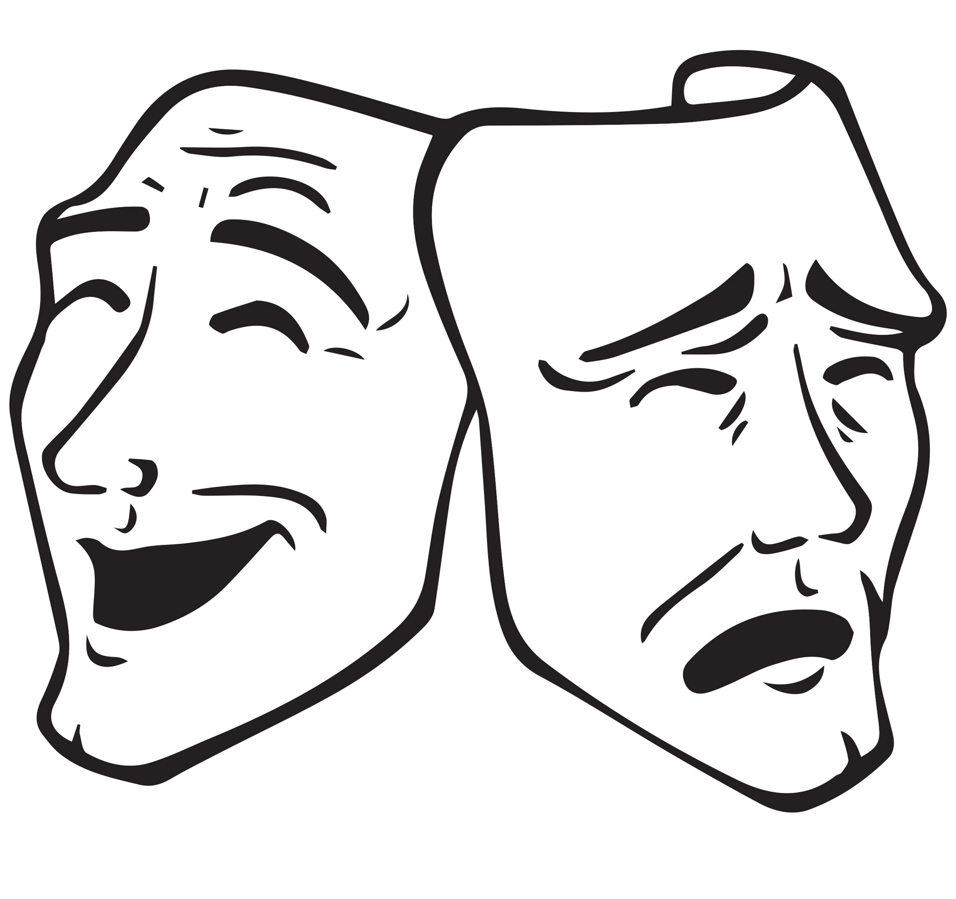 Drama Masks Free Stock Photo