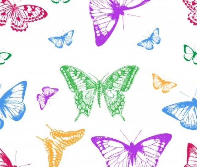 Butterfly Wallpaper Pattern Vintage