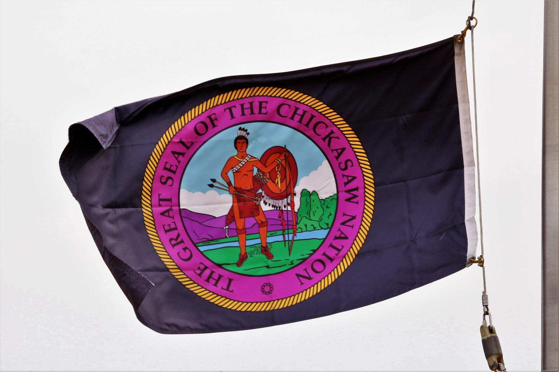 Chickasaw Nation Flag Free Stock Photo