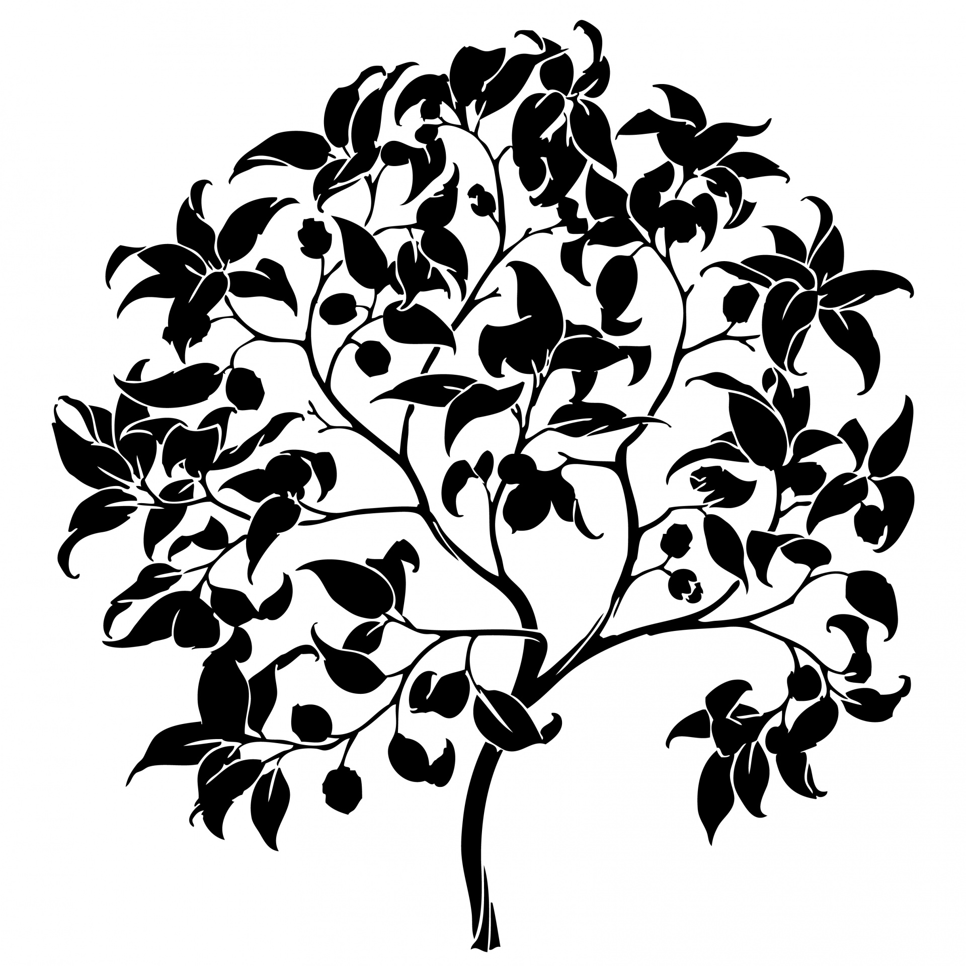 Tree Silhouette Clipart Free Stock Photo