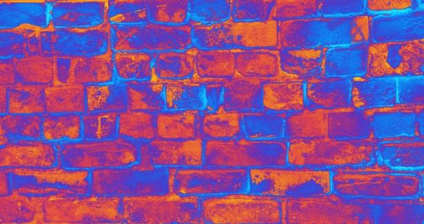 Psychedelic Brick Wall Free Stock Photo Public Domain