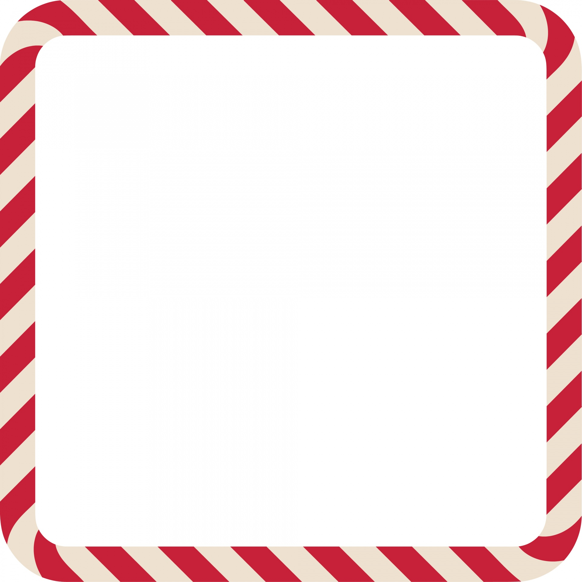 Candy Cane Frame Square Free Stock Photo