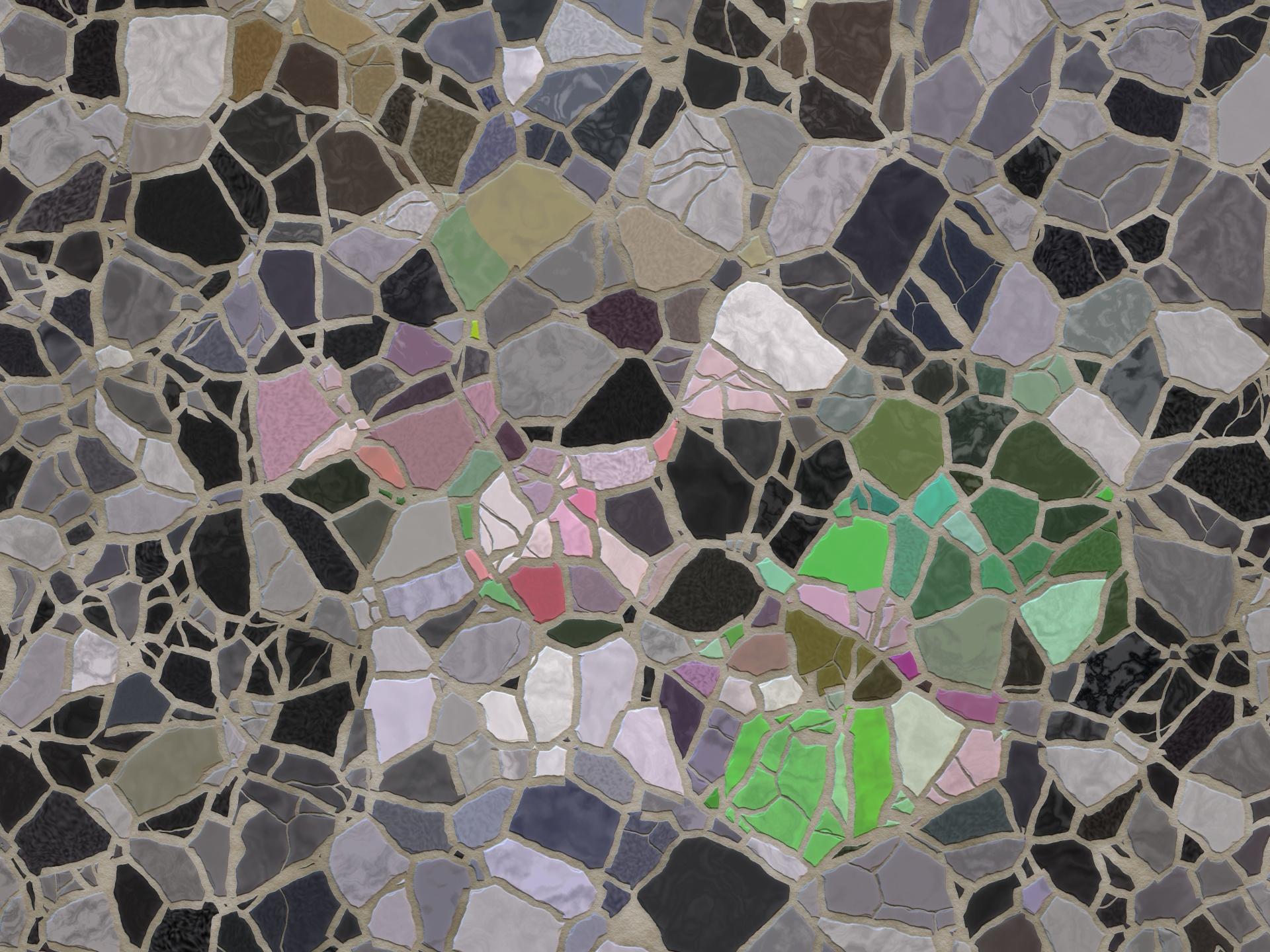 floral mosaic tile free stock photo
