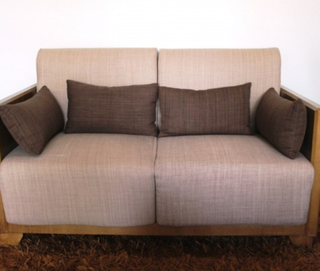 Sofa On A Rug In A Living Room