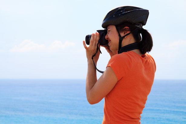 Ciclista y fotógrafo