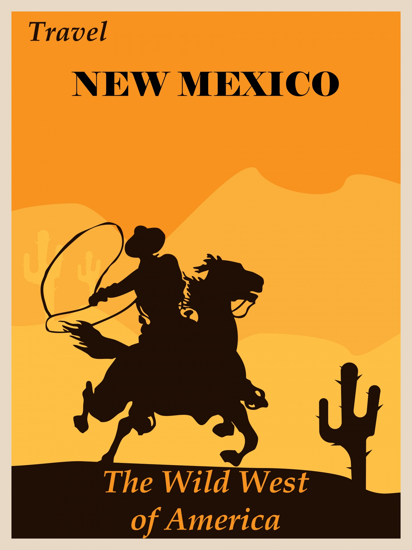 new mexico travel poster free stock