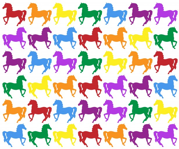 Colorful Horse Background Wallpaper Free Stock Photo