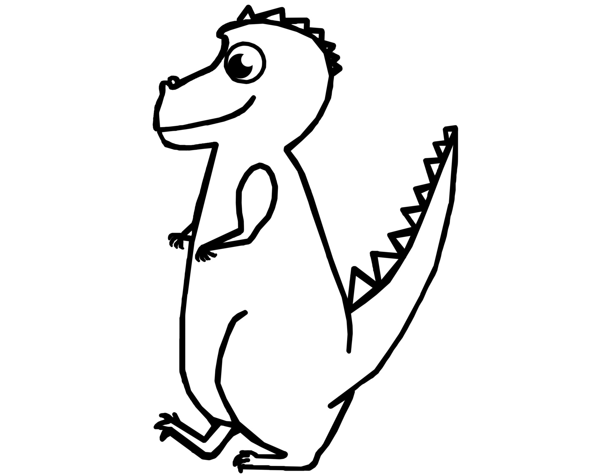 T Rex Dinosaur Outline Free Stock Photo