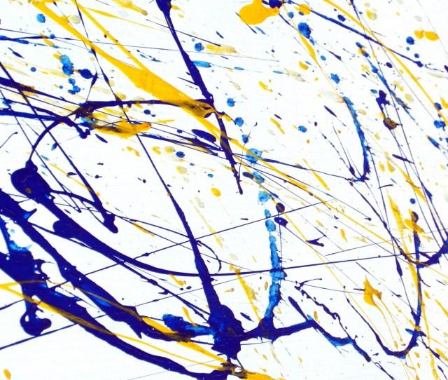 Abstract Paint Splatter