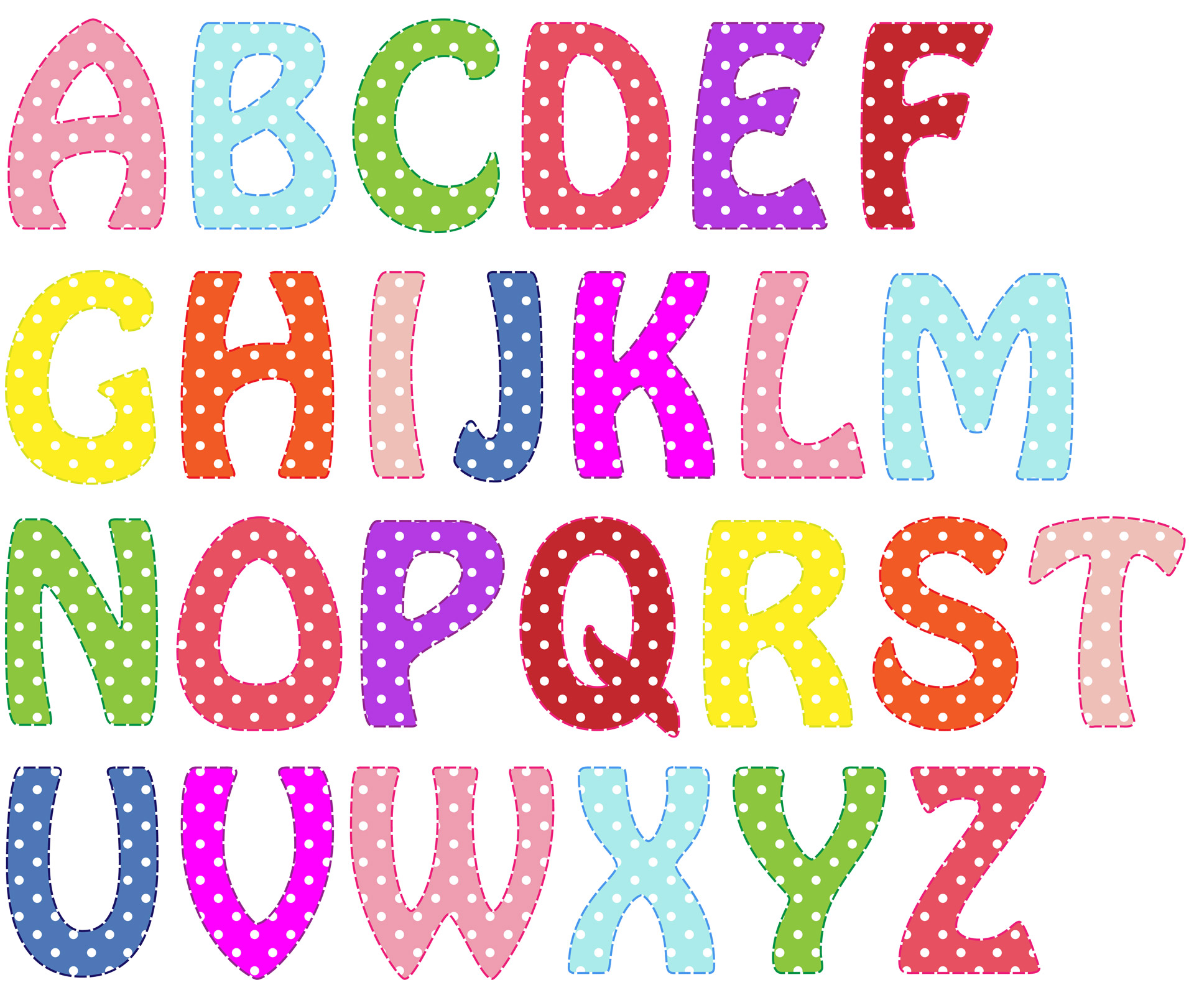 Resultado de imagen de colours letters