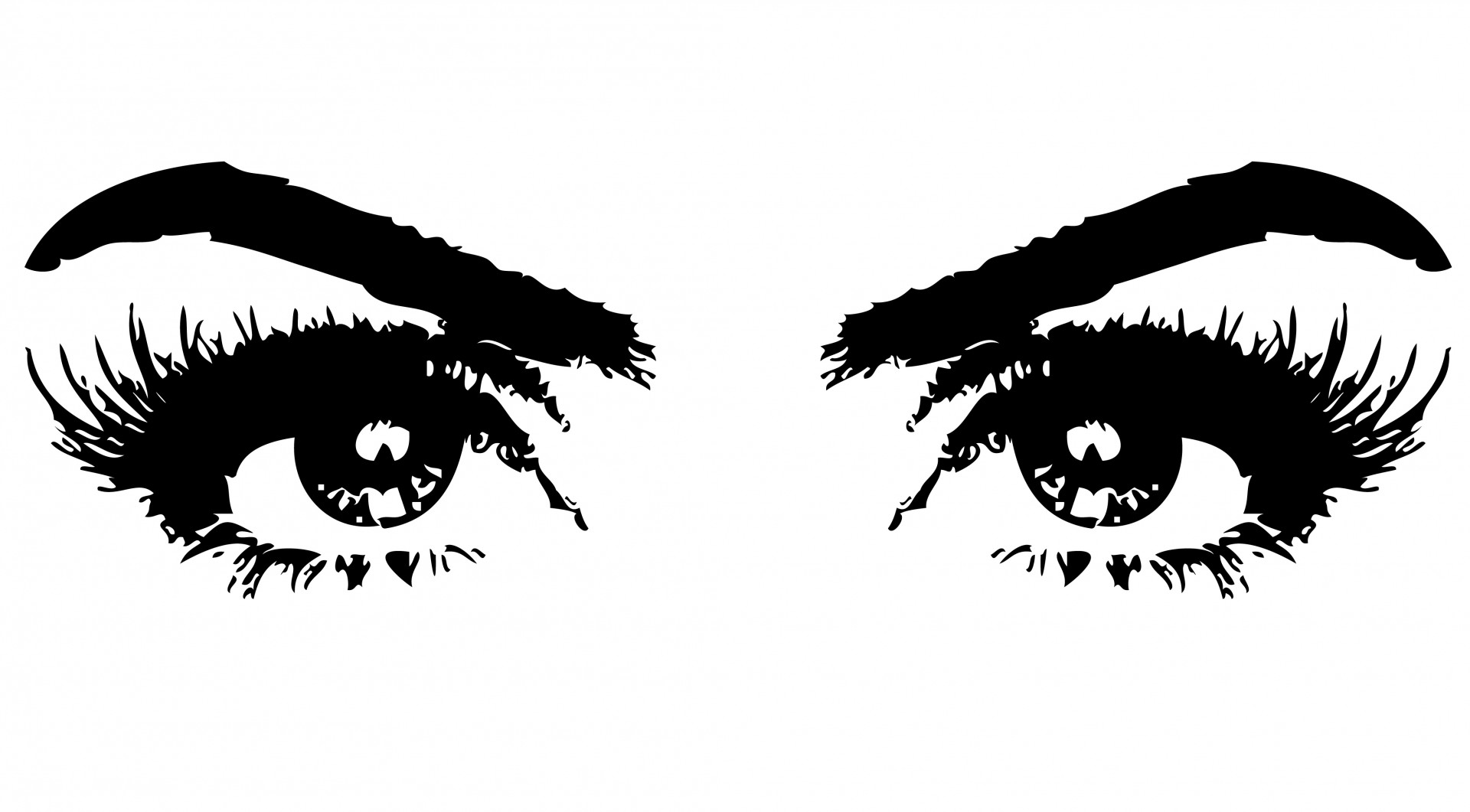 Eyes Of Woman Clipart Free Stock Photo
