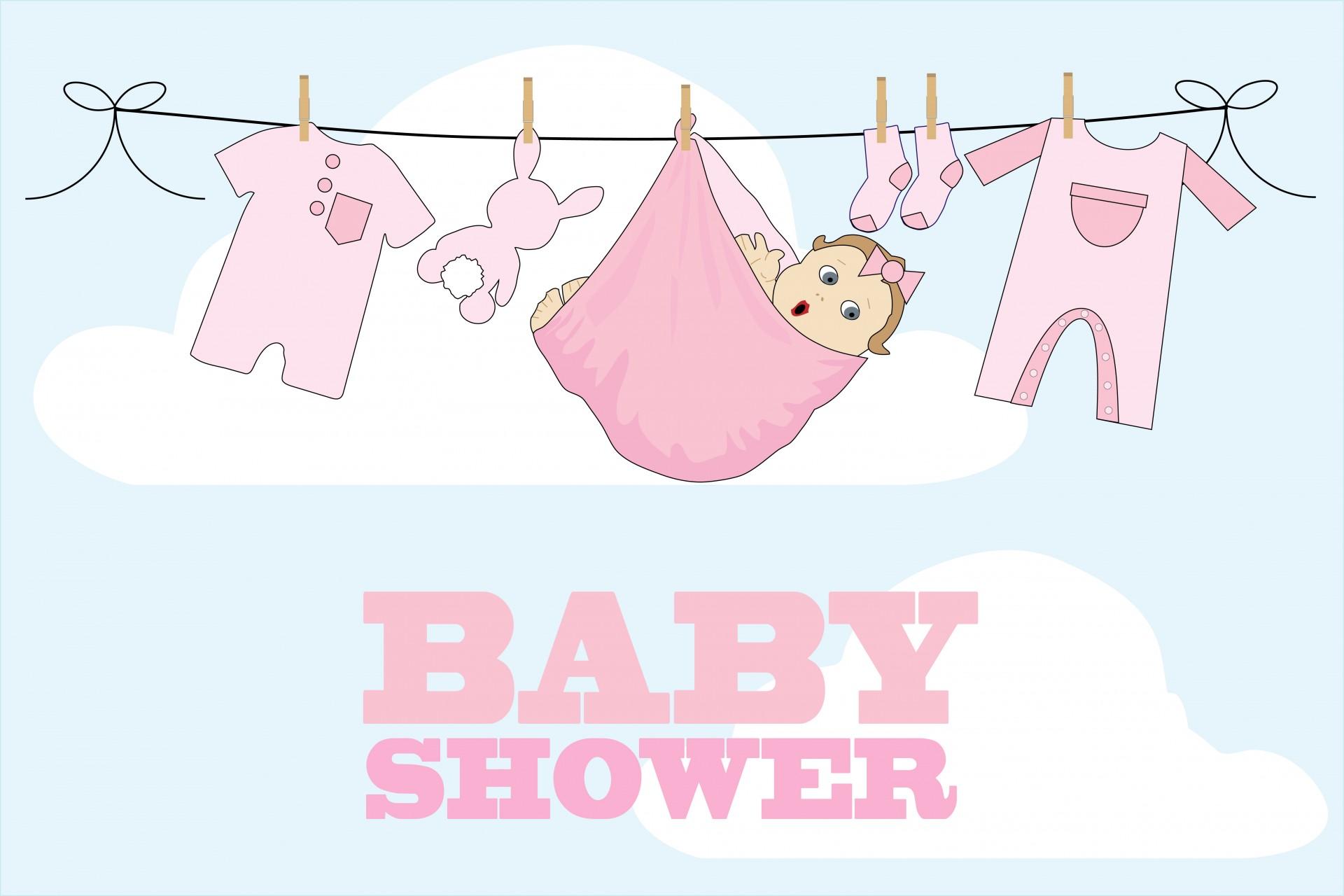 Baby Shower Card Girl