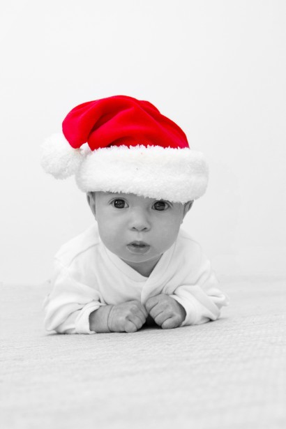 Baby With Santas Hat Free Stock Photo Public Domain