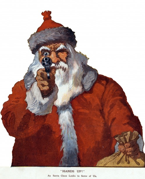 Santa With A Gun Free Stock Photo Public Domain Pictures