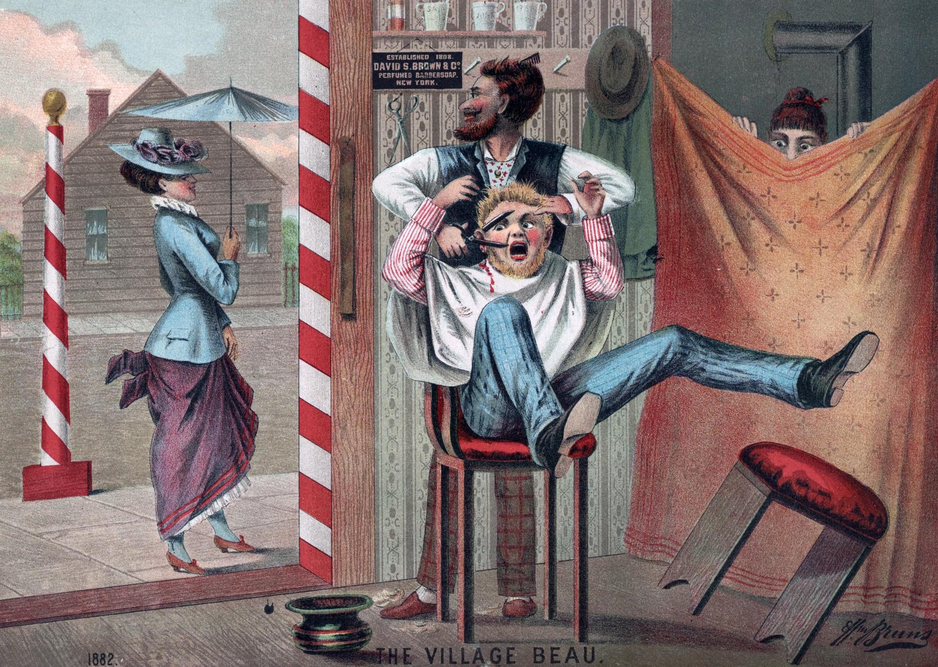 barber shop humour illustration free