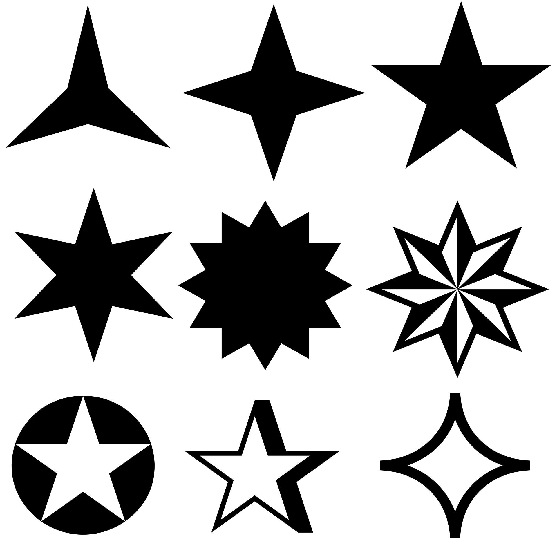 Stars Symbols Free Stock Photo