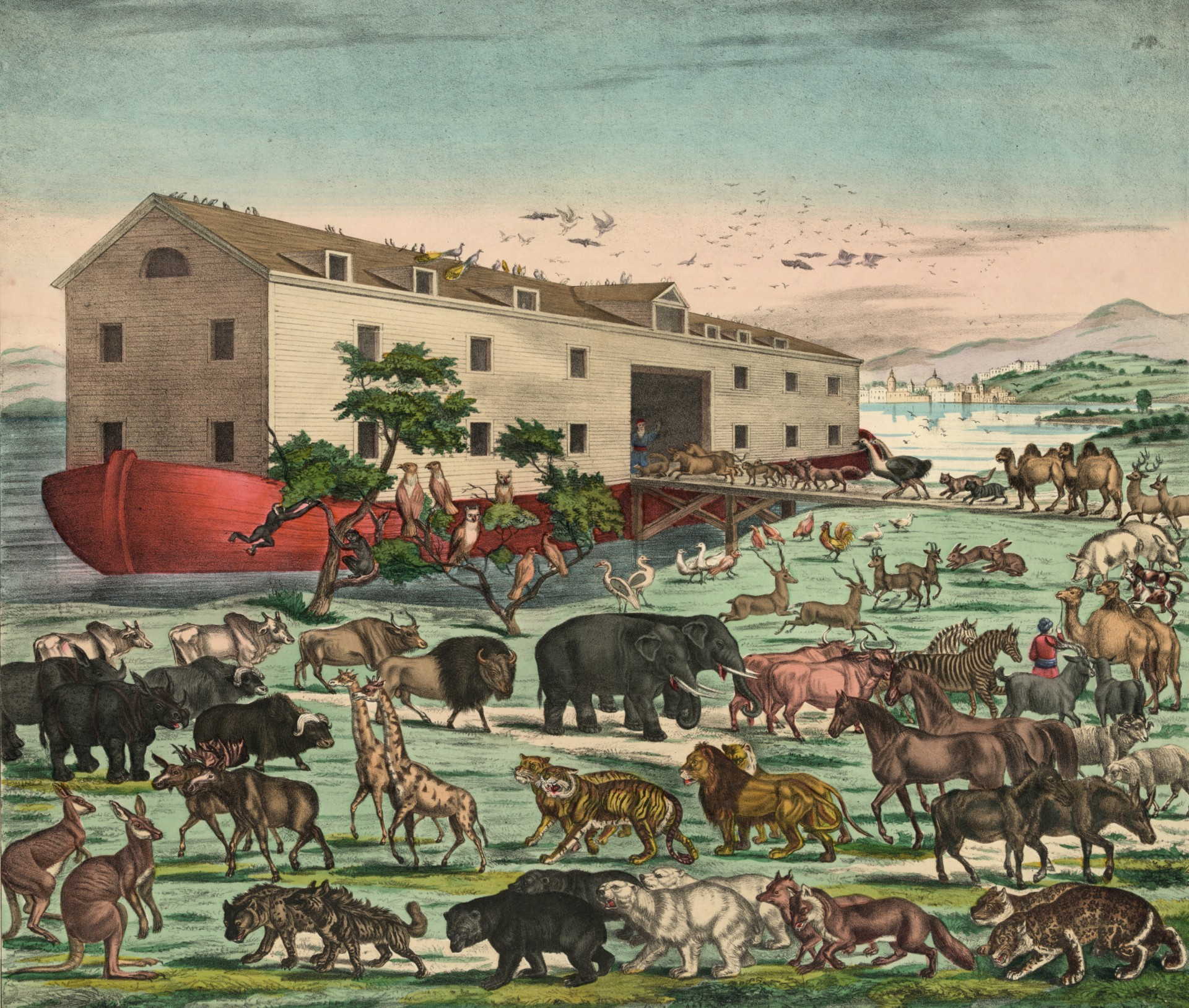 Vintage Noahs Ark Illustration