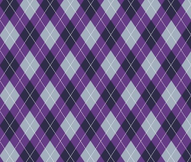 Argyle Pattern Purple Grey