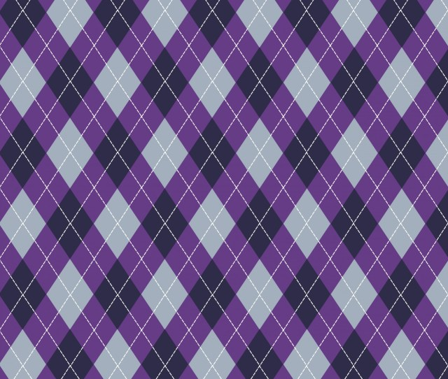 Argyle Pattern Purple Grey