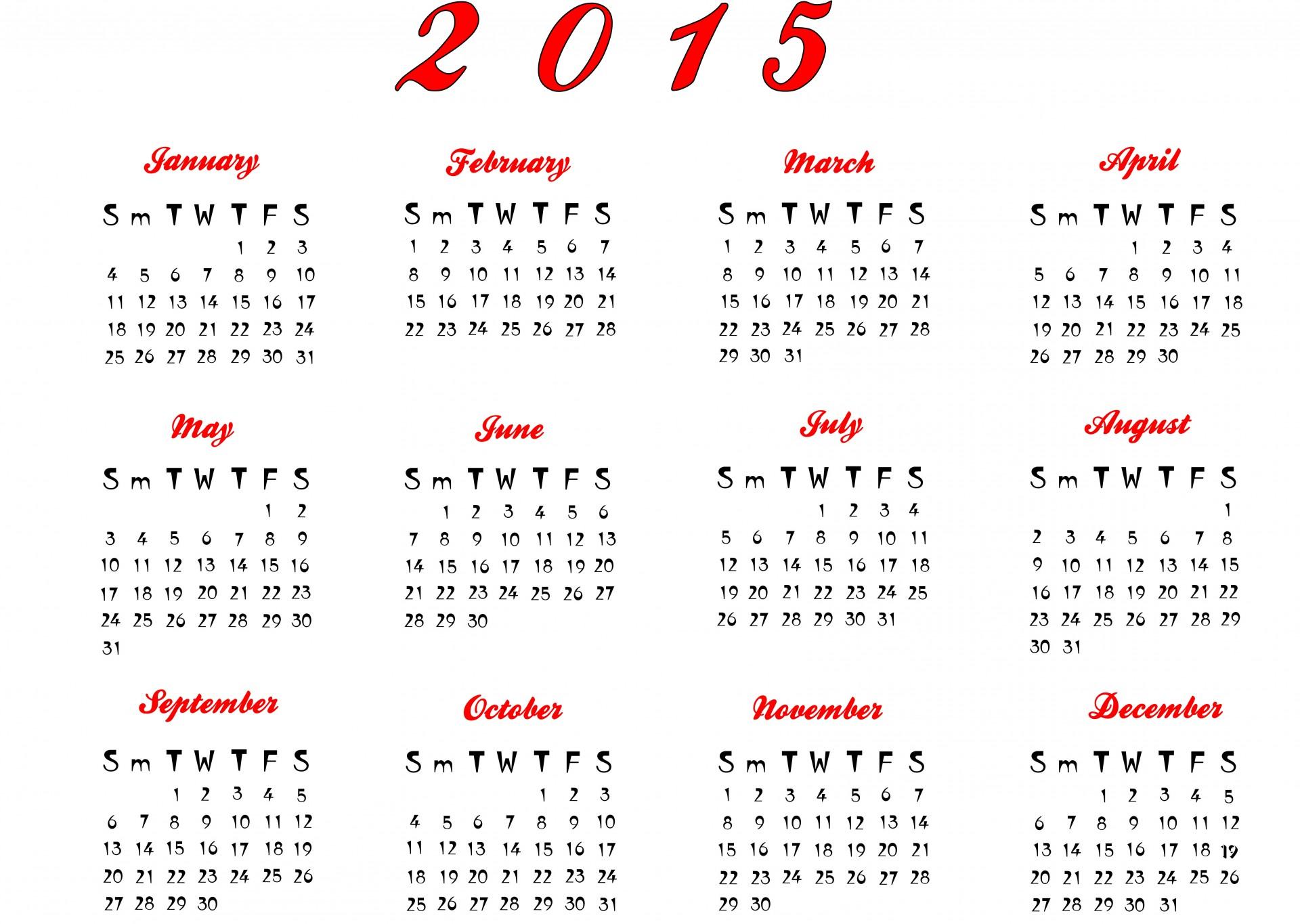 Calendar 2015 Free Stock Photo Public Domain Pictures