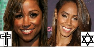 Stacey Dash (left) and Jada Pinkett Smith (right) - they essentially pass as sisters, however their religious backgrounds greatly differ...