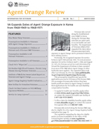 Cover of Agent Orange Review Winter 2012