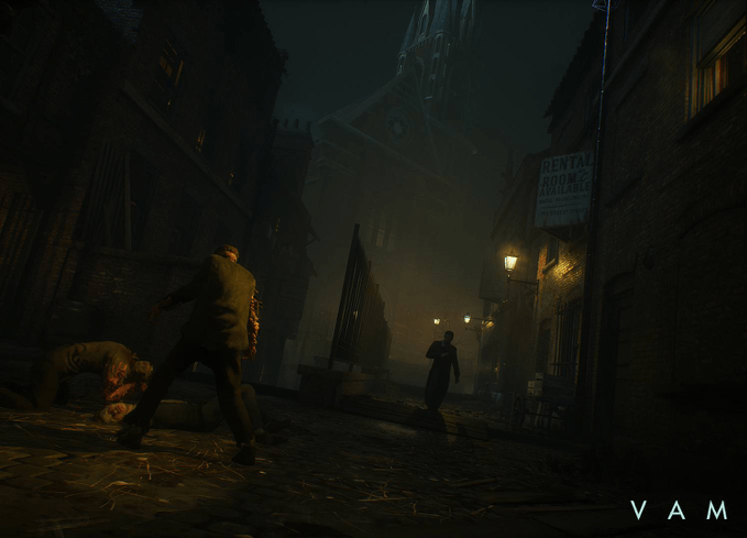 A dark alleyway in vampyr