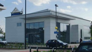 New Milton Keynes Library under construction in Kingston retail park