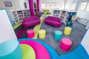 Milton Keynes - New library at Kingston: It's a bit colourful.