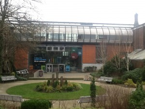 Oldham Library entrance