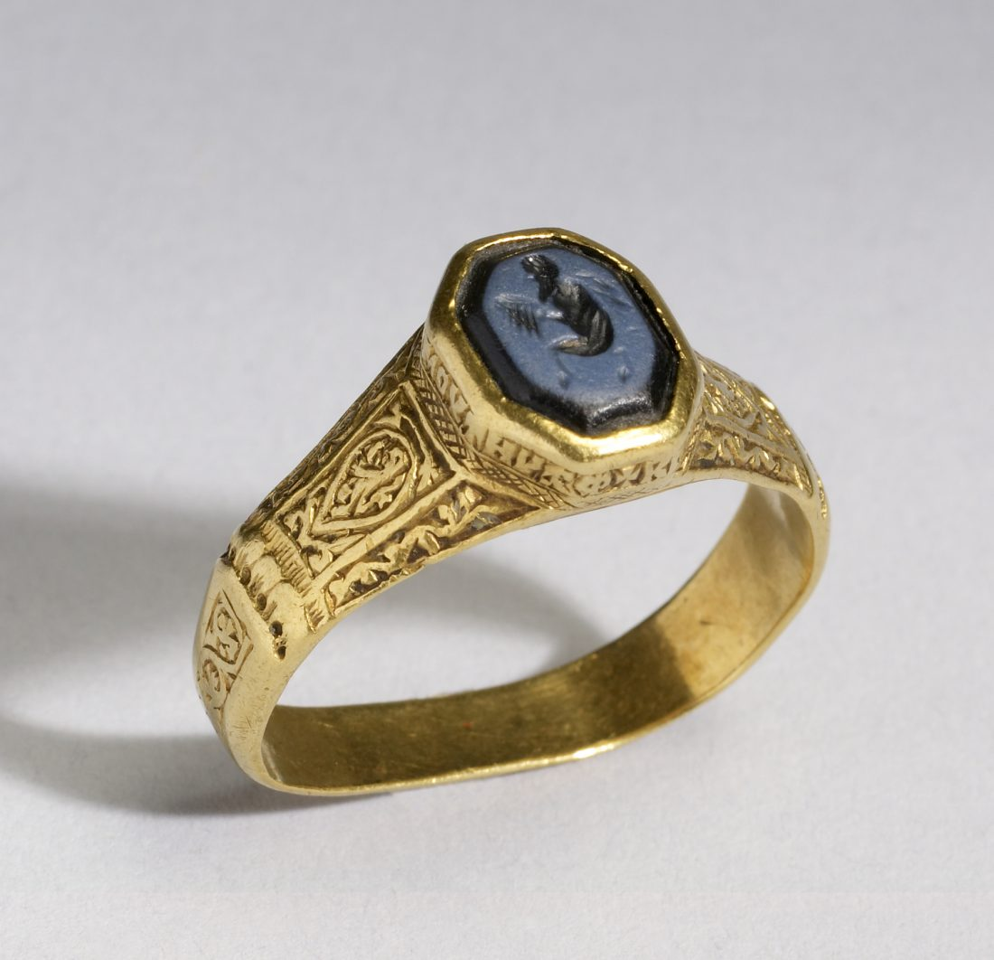 Ring with an Intaglio of Pan, Walters Collection 57.1580. A Byzantine ring bearing a recontextualized, much older, stone.