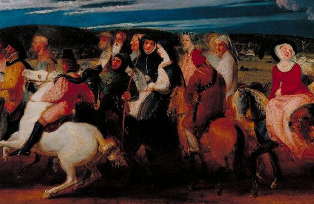 The Pilgrimage to Canterbury 1806-7 by Thomas Stothard 1755-1834