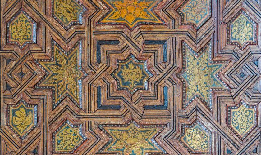 Details_ceiling_Cuarto_dorado_Alhambra,_Granada,_Andalusia,_Spain