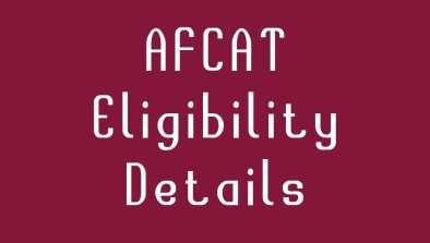 afcat eligibility Details