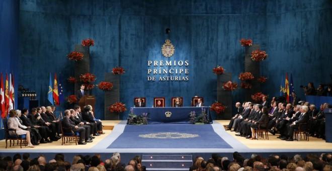 Salón de los premios Princesa de Asturias en Oviedo