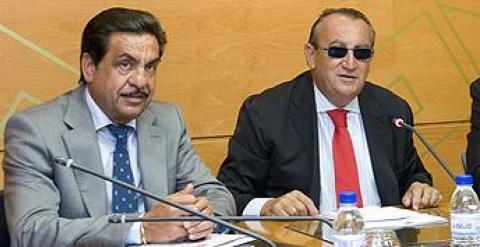 Francisco Martínez, junto a Carlos Fabra en la Diputación de Castellón.