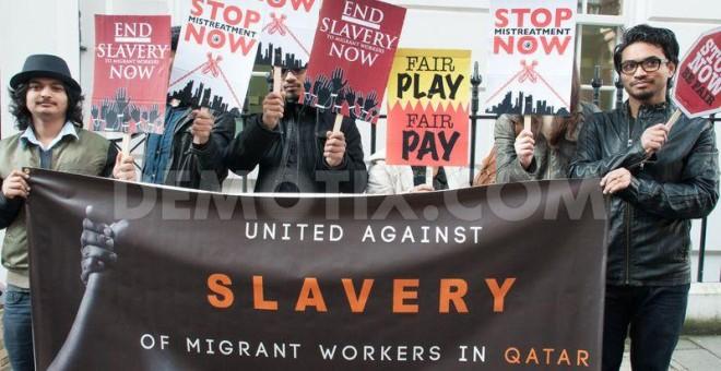 La FIFA conceció la sede del mundial de 2022, a un país, Qatar, donde todavía no se ha abolido la esclavitud. ARCHIVO