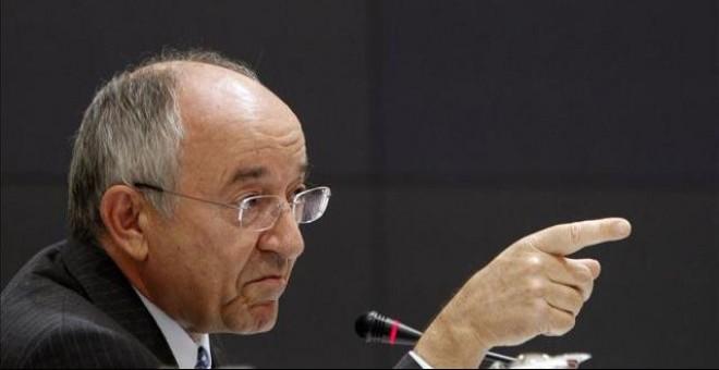 Miguel Ángel Fernández Ordóñez en la época que estaba al frente del Banco de España. / EFE (ARCHIVO)