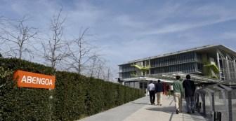 La entrada de la sede corporativa de Abengoa en Sevilla, el Campus Palmas Altas. REUTERS