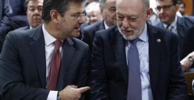 El ministro de Justicia, Rafael Catalá, y el fiscal general del Estado, José Manuel Maza. - EFE