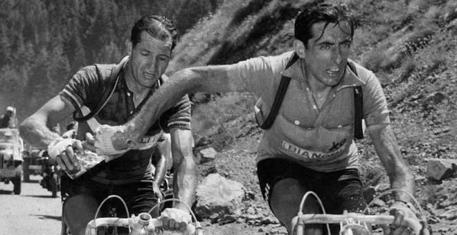 Gino Bartali y Fausto Coppi.