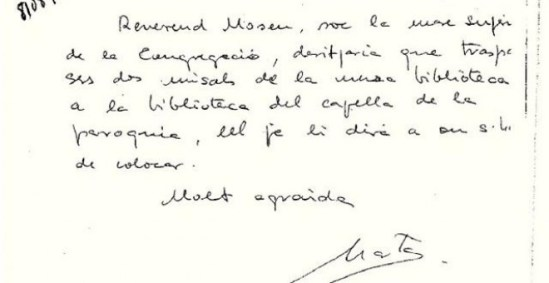 Carta Marta Ferrusola