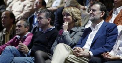 Imagen de archivo de Granados, Aguirre y Rajoy en un acto electoral del PP. EFE