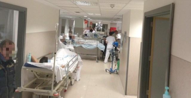 Imagen del colapso en las urgencias de La Paz de esta semana.