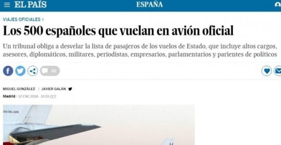 Información de 'El País' sobre los datos por los que Civio y el Ministerio de Defensa litigaron tres años en los tribunales.