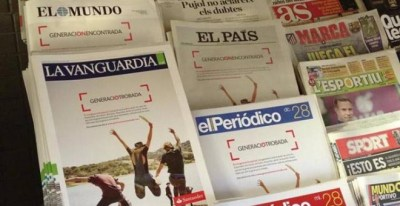 En enero de 2015 todos los periódicos de la Asociación de Editores de Diarios Españoles (AEDE) ocuparon toda su portada con publicidad del Banco Santander, lo que provocó críticas sobre su independencia.