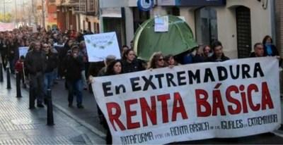 Movilización contra los recortes en Extremadura. Campamento Dignidad