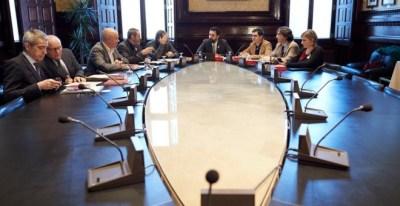 El presidente del Parlament, Roger Torrent, durante la reunión semanal de la Mesa de la cámara catalana. EFE/Alejandro García