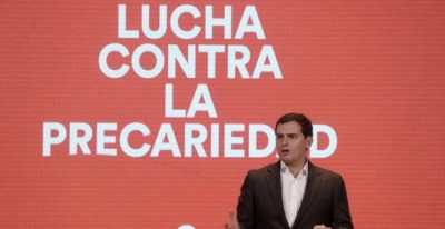 Albert Rivera, durante su intervención en el acto 'Nuevo modelo laboral: Lucha contra la precariedad' / Efe